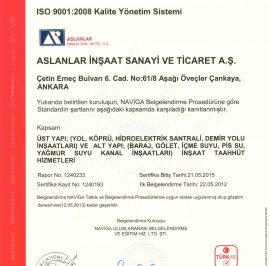 İSO 9001:2008 Kalite Yönetim Sistemi
